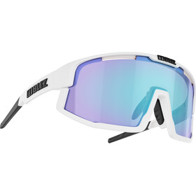 Bliz Vision Brille matt white/smoke with blue multi